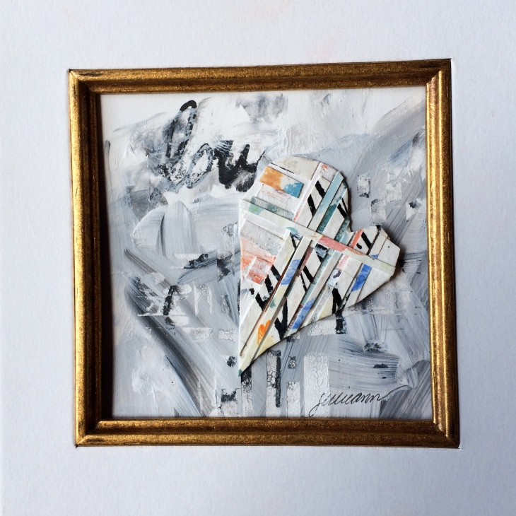 """love actually"" mixed media collage $50"