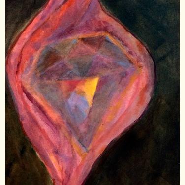 """""""teresa of avila"""" 8"""" x 10"""" framed watercolor $200"""