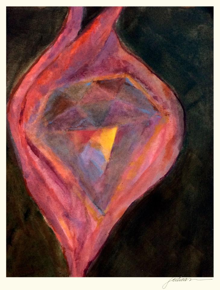 """""""teresa of avila"""" 8"""" x 10"""" watercolor  $90"""