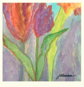 """""""wind tossed"""" 5"""" x 7"""" watercolor SOLD"""