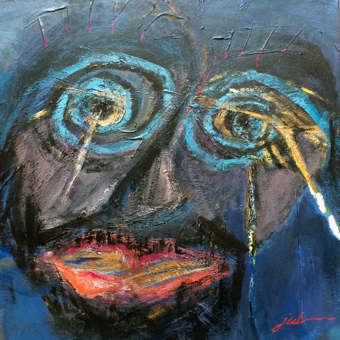 """""""The Christ in You"""" 24"""" x 24"""" gesso & acrylic on canvas NFS"""