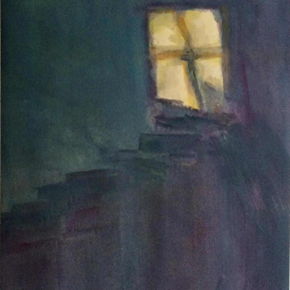 """Felix Culpa"" 8"" x 10"" framed watercolor NFS"