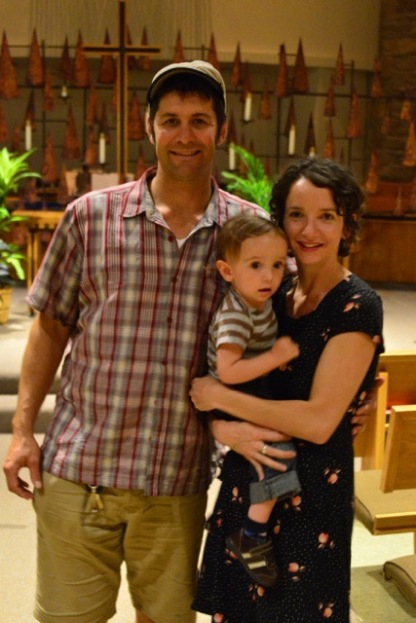 Alana's husband Ian and son Oliver